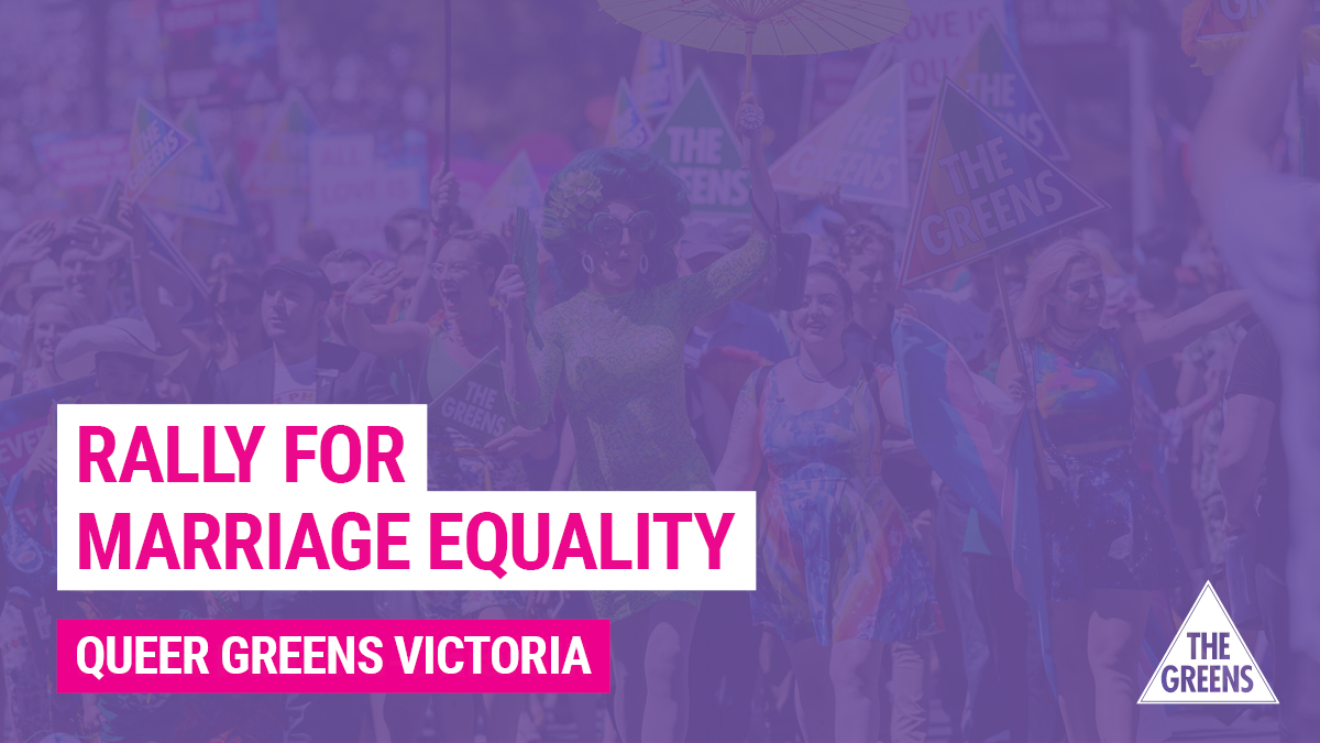 Rally for Equality with Queer Greens