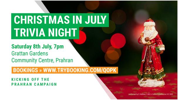 Christmas In July Trivia - Australian Greens Victoria
