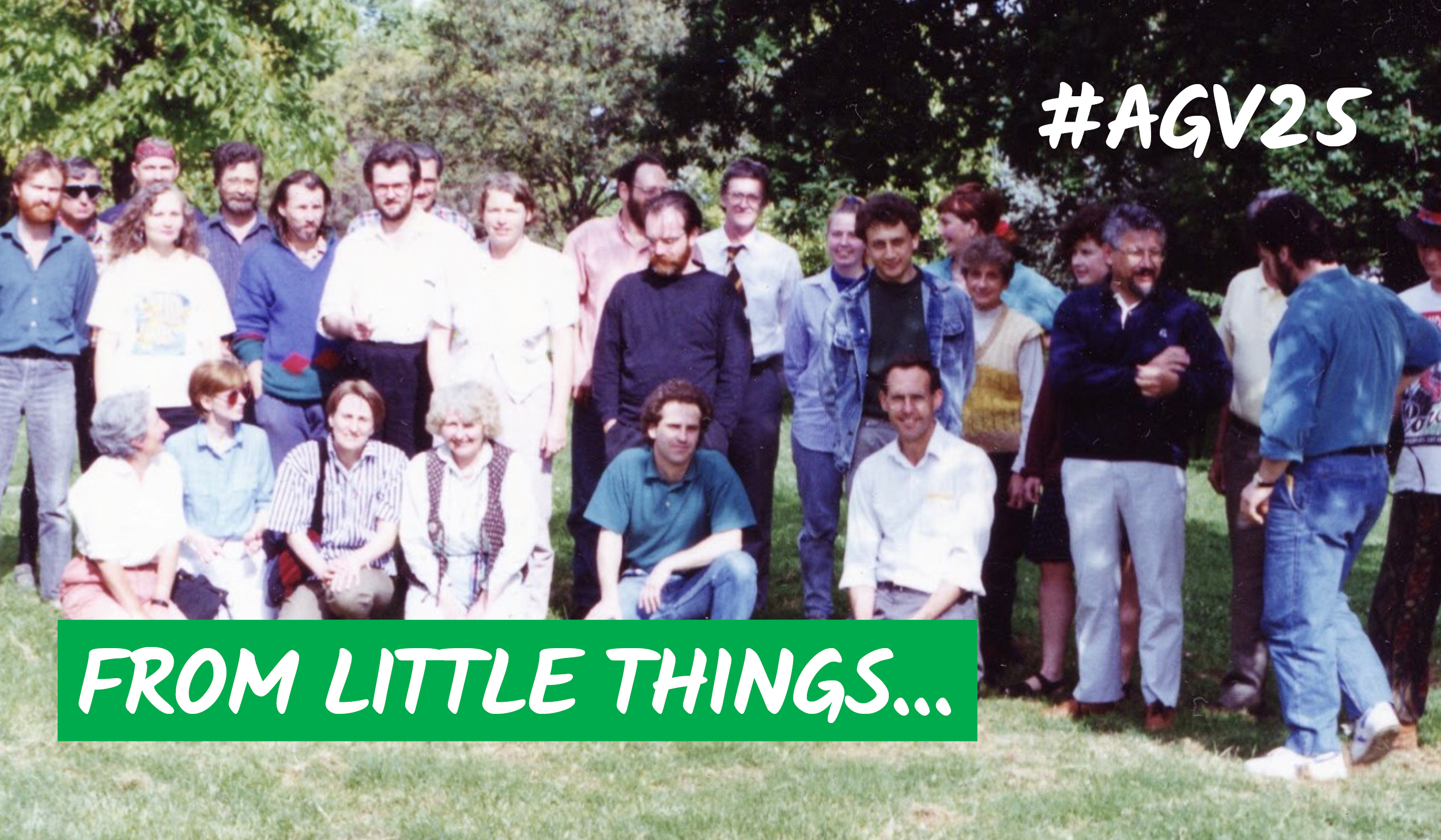 Founding members of the Victorian Greens with Bob Brown in Darling Gardens, 1992