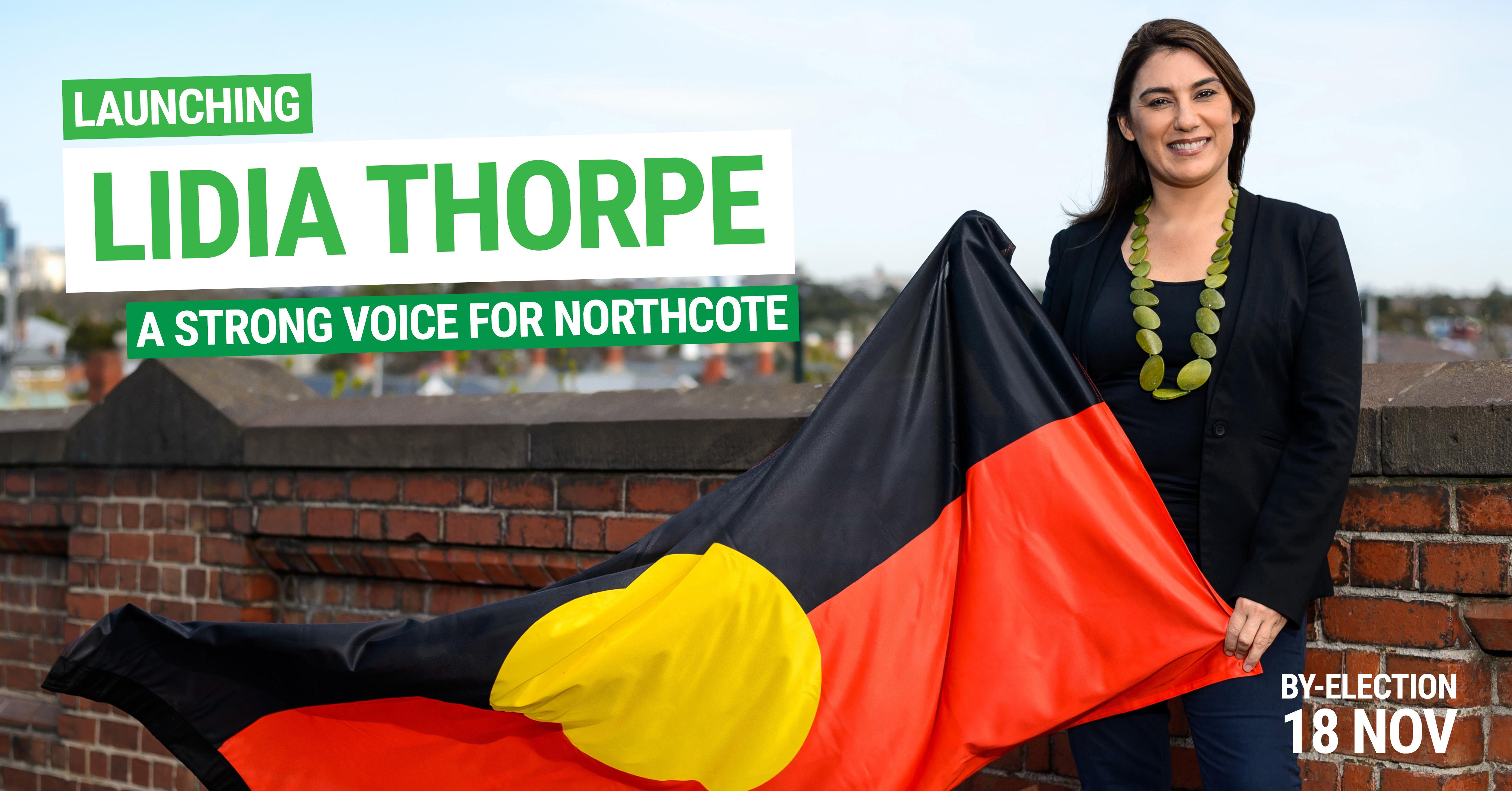 Lidia with Aboriginal flag