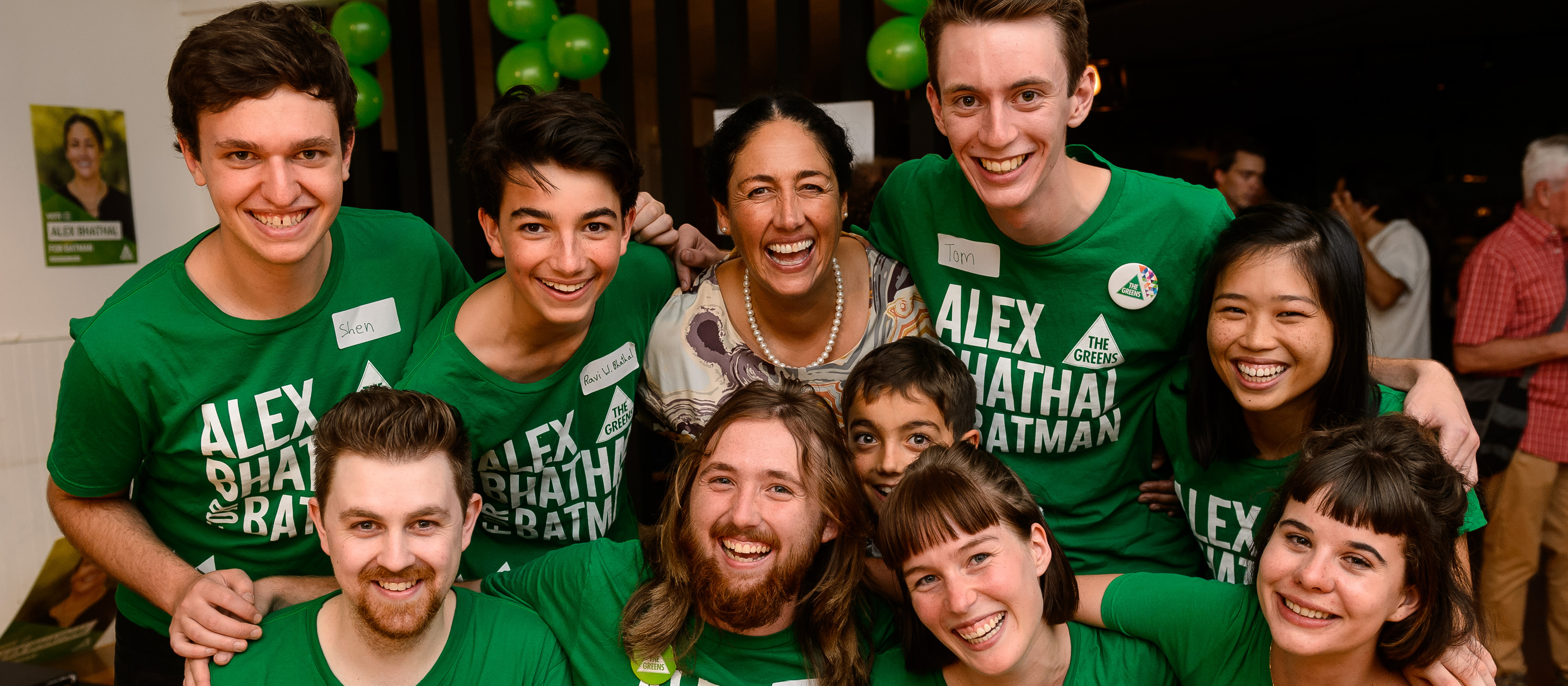 Alex Bhathal with volunteers