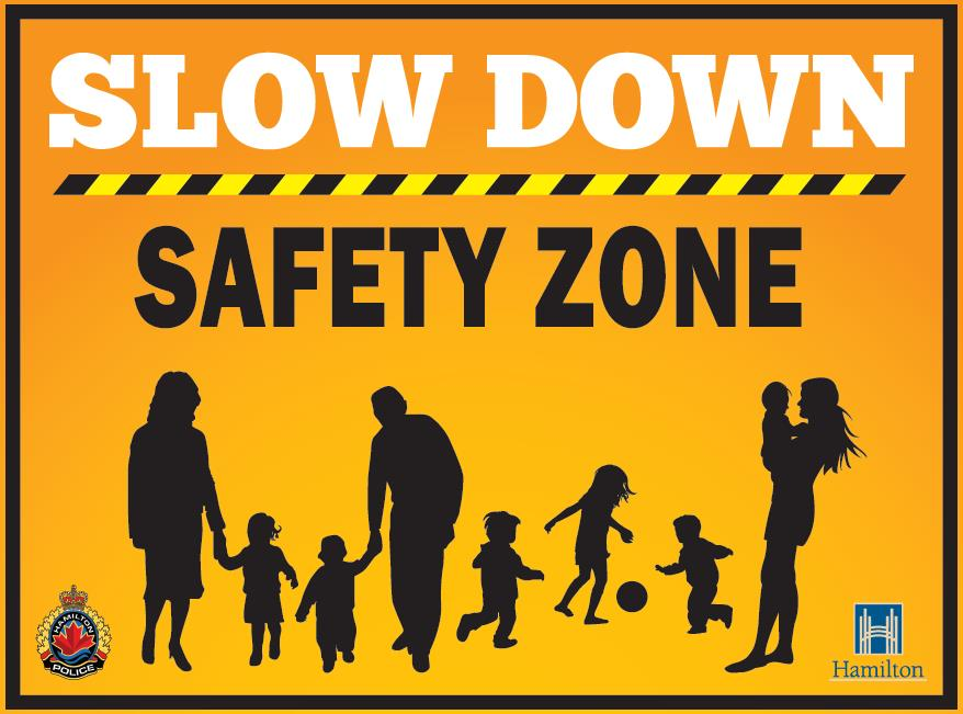 Slow Down Road Safety Lawn Signs Program - Aidan Johnson