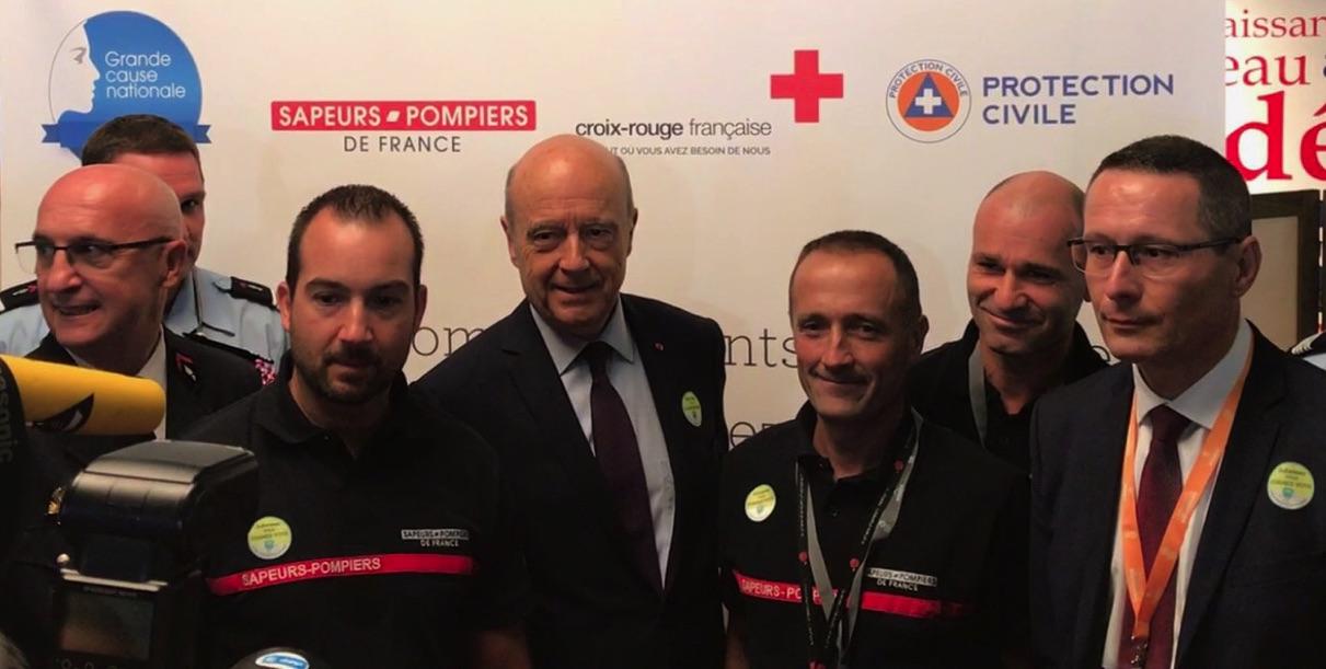 Les Sapeurs-Pompiers avec Alain Juppé !