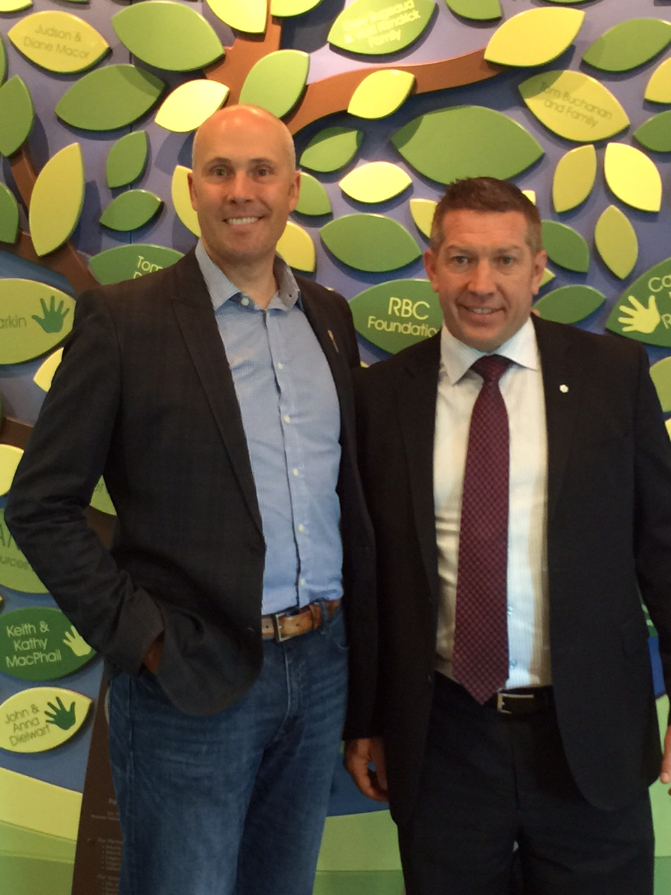 Greg Clark and Sheldon Kennedy