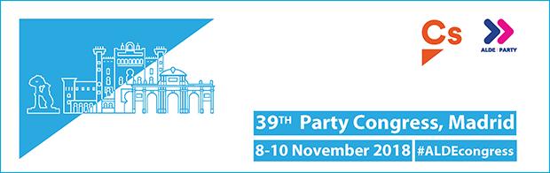 PRESS ADVISORY: ALDE Party Congress in Madrid, Spain, 8-10 November 2018