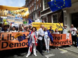 Liberal Democrats join thousands to march for Europe