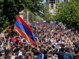 Scenes of jubilation in the streets as Armenian PM resigns after protests