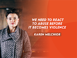 We need to react to abuse before it becomes violence
