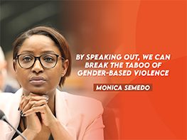 By speaking out, we can break the taboo of gender-based violence