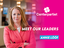 Meet our leaders: Annie Lööf (Centerpartiet, Sweden)