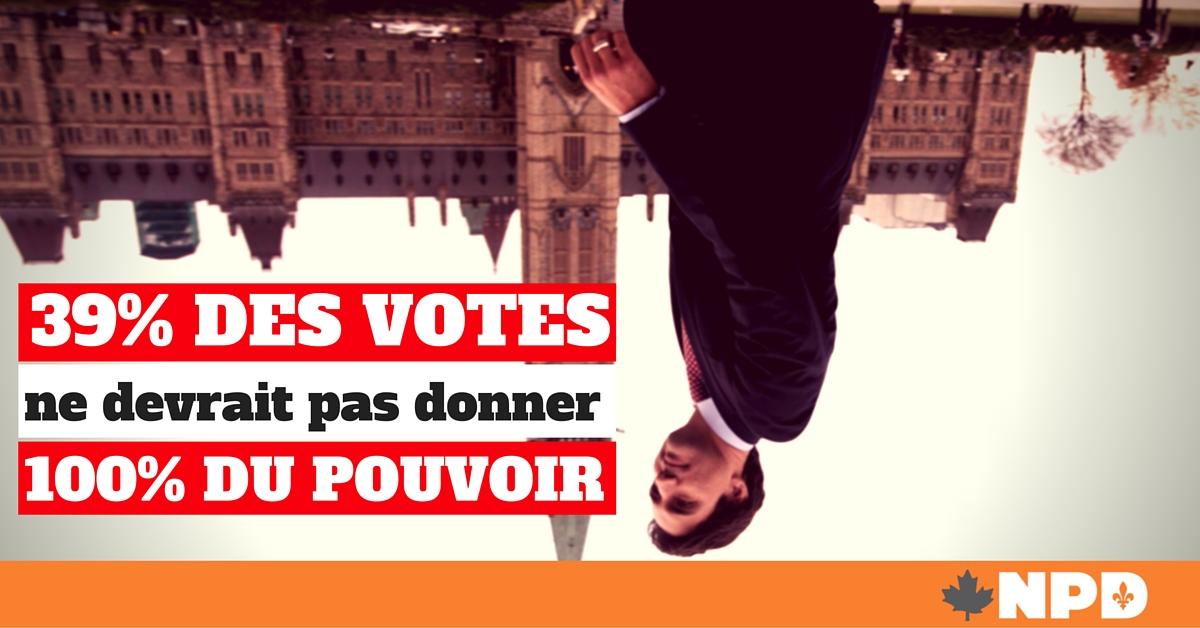 Le NPD propose d'amorcer la réforme du système électoral désuet et injuste du Canada