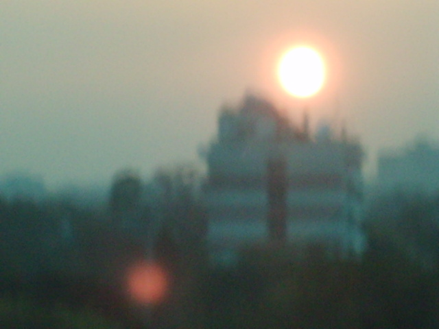 Sunrise in New Delhi