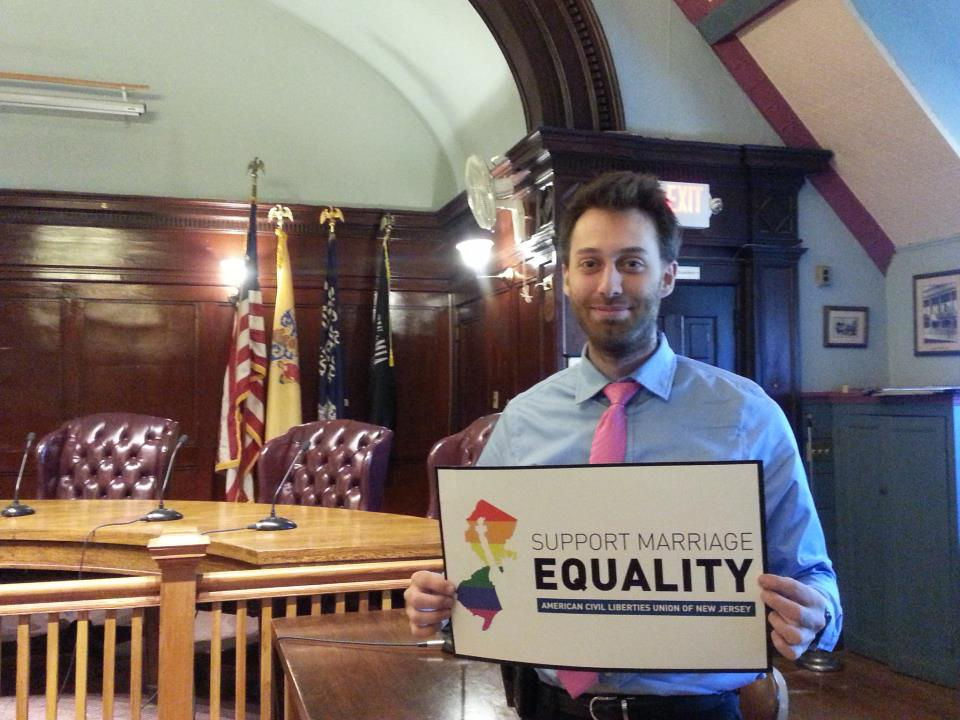 Alex Torpey, South Orange Mayor Supporting Marriage Equality