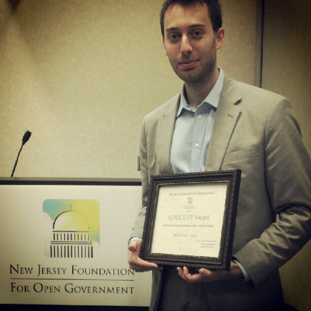 NJ FOG Open Government Award to Alex Torpey
