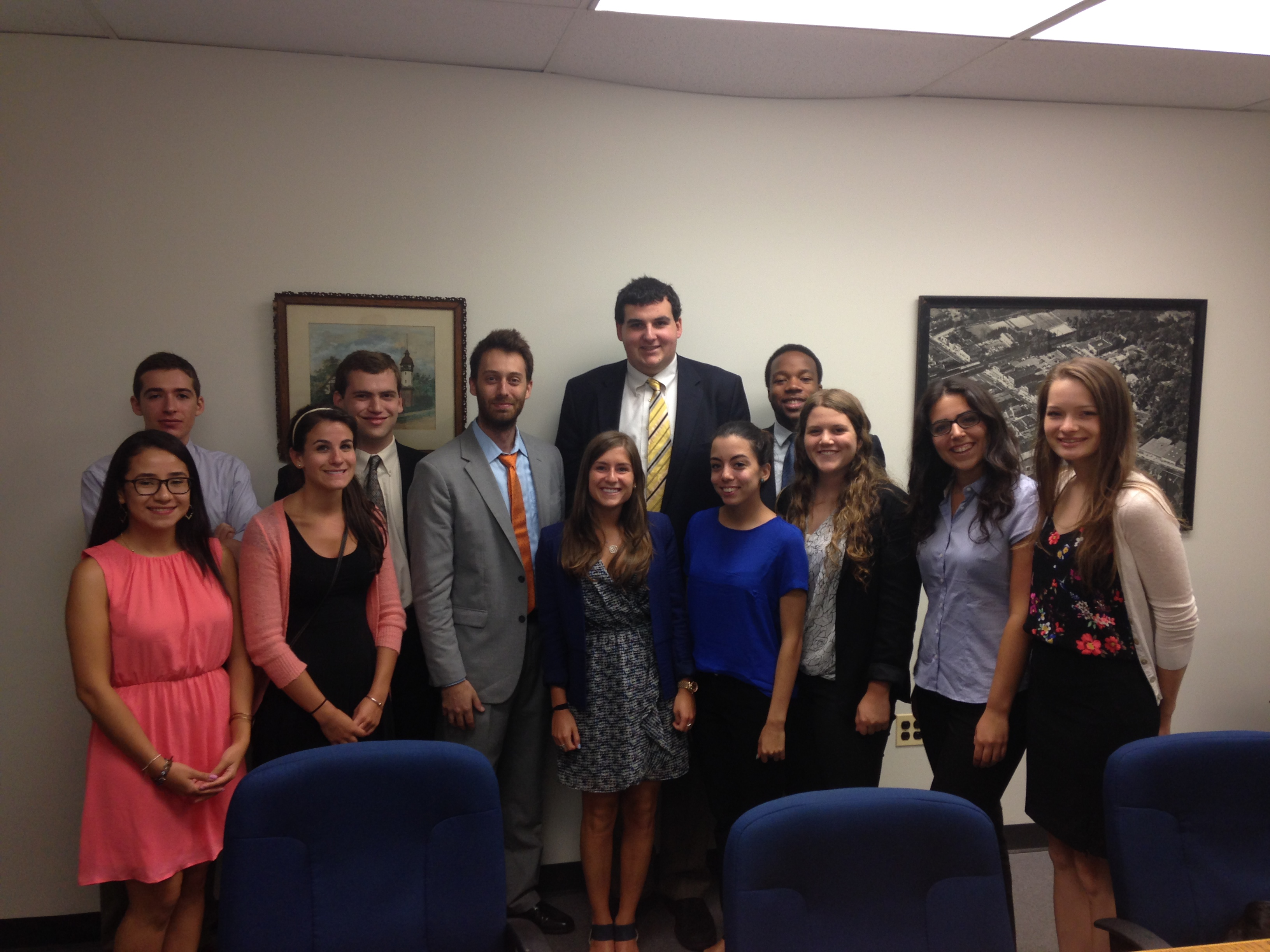 Alex Torpey with Senator Cory Booker interns