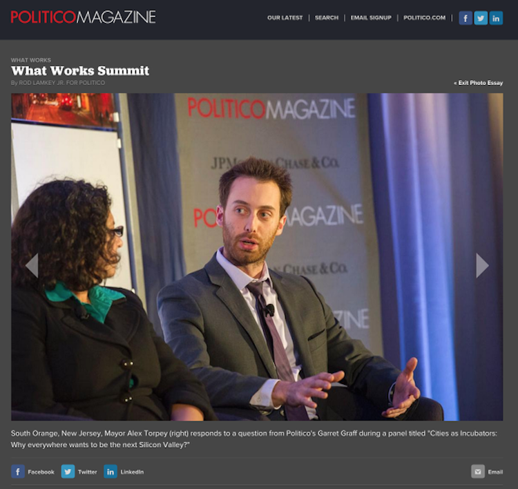 Alex Torpey POLITICO What Works Summit