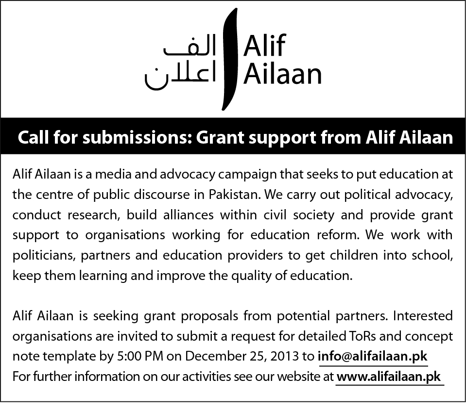 Civil Society EOI - Alif Ailaan