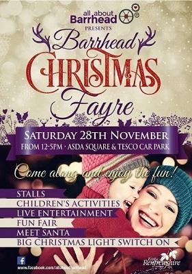 Barrhead Christmas Fayre flier