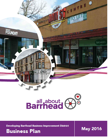 Front Cover Barrhead BID business plan