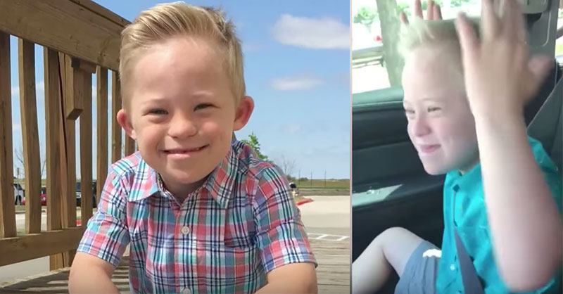 9-Year-Old Boy With Down Syndrome Loves To Sing  When He Opens His