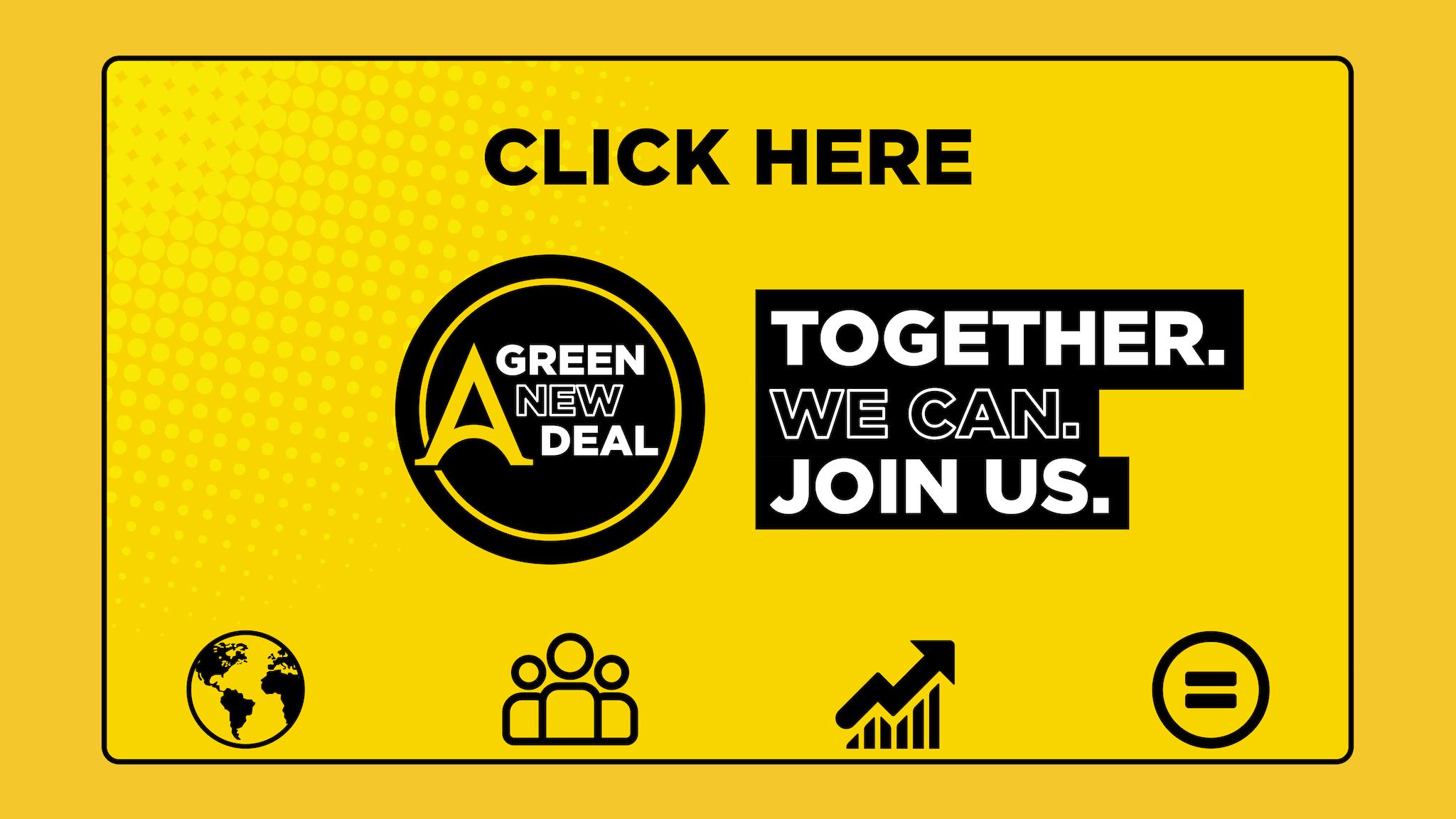 Green New Deal Banner