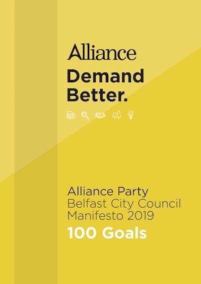 Belfast City Council Local Government Manifesto 2019 manifesto cover