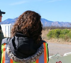 Border checkpoint monitors say they're being kept too far away