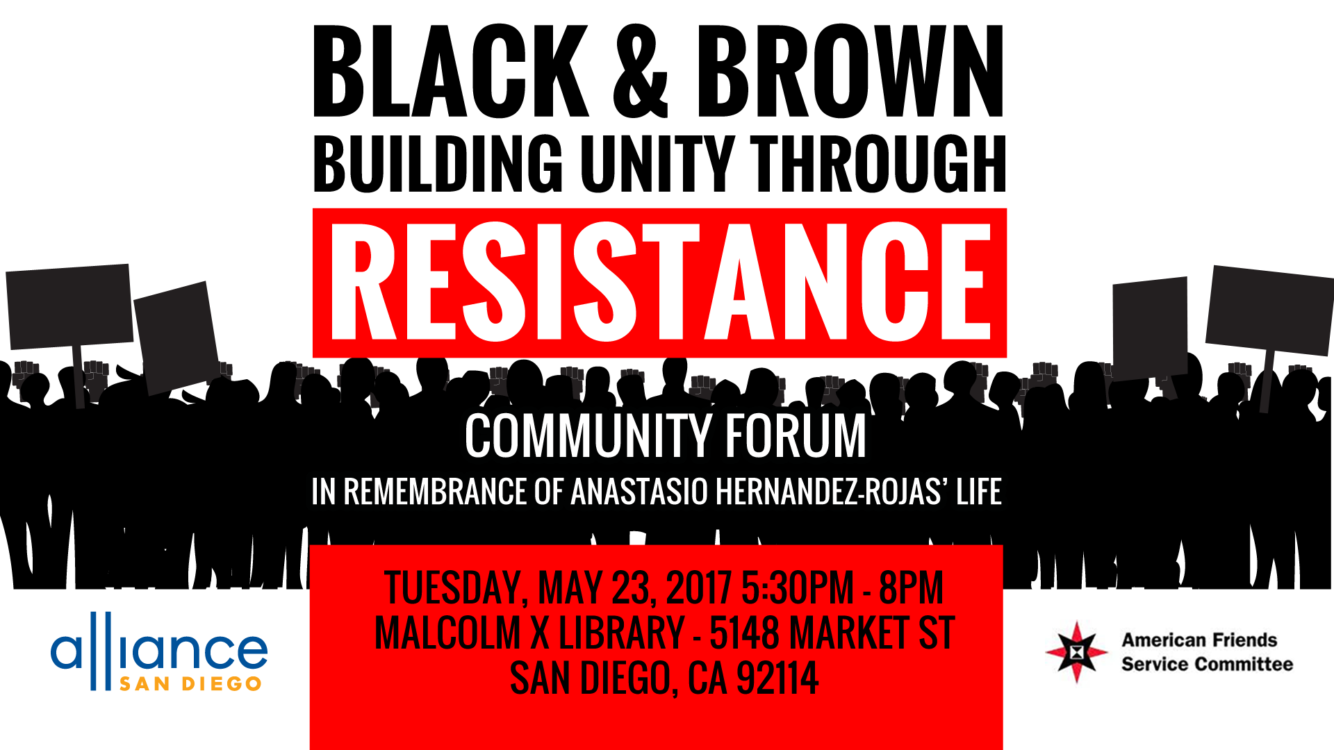 Black and Brown Building Resistance through Resistance