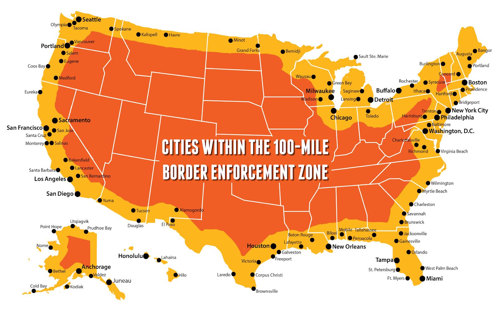 100-mile border enforcement zone