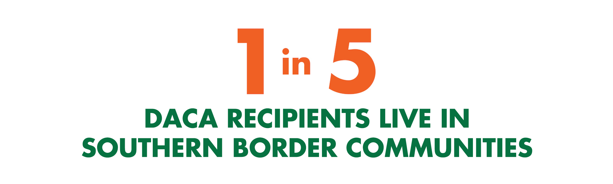 1 in 5 daca recipients live in southern border communities