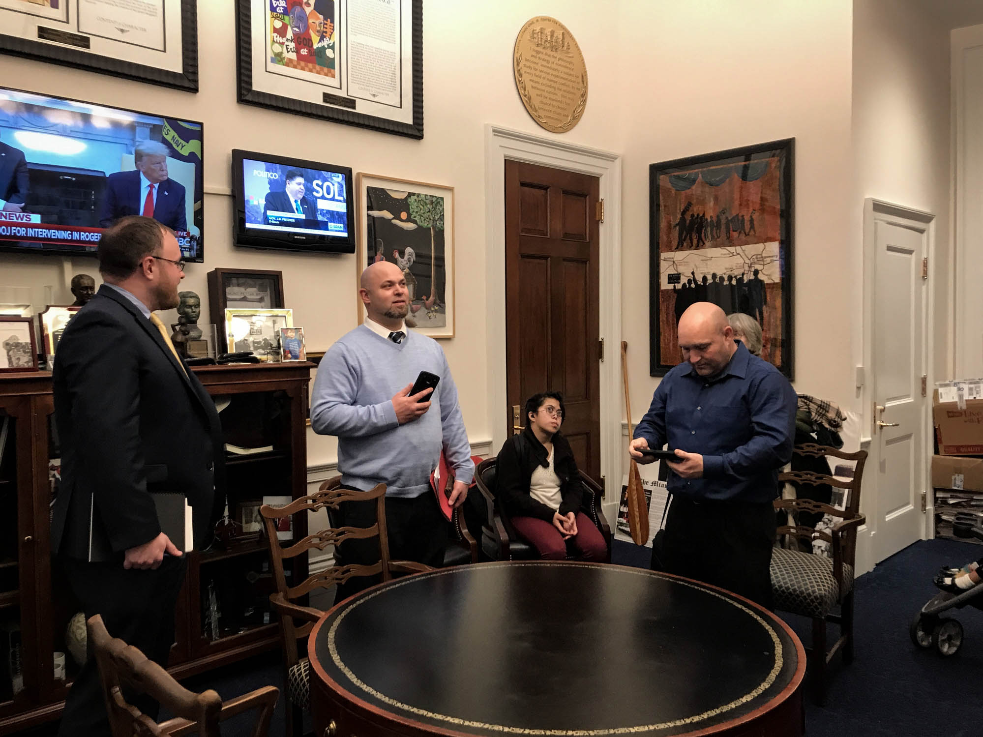 Inside Congressman John Lewis's office