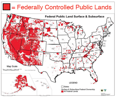 Whats Your Plan For Reimbursing The US Govt For All The - Us federal lands map