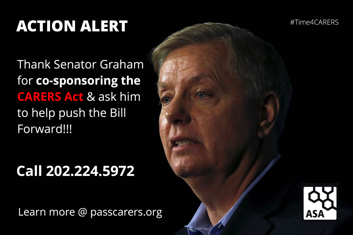Thank Senator Graham for sponsoring CARERS