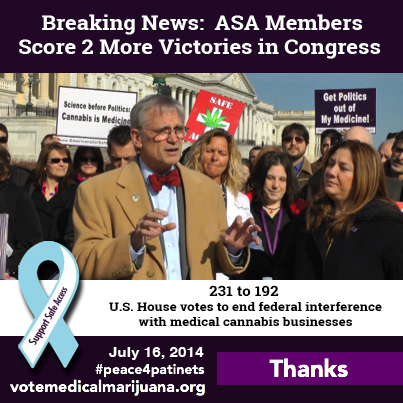 Breaking News: ASA Members Score Two More Victories in Congress!