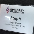 Steph Sherer spoke at the Epilepsy Foundation
