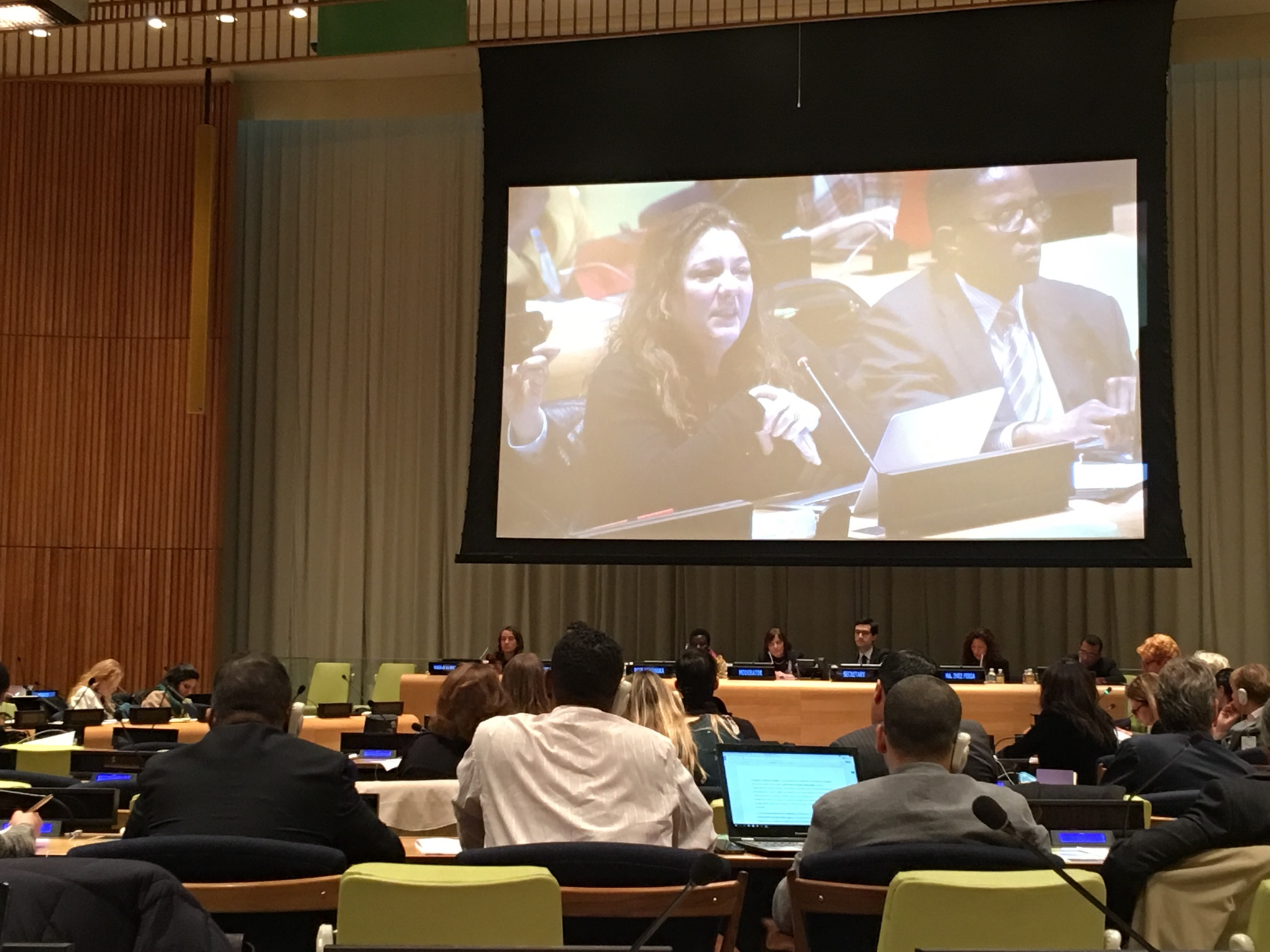 Steph Sherer at UN Meeting