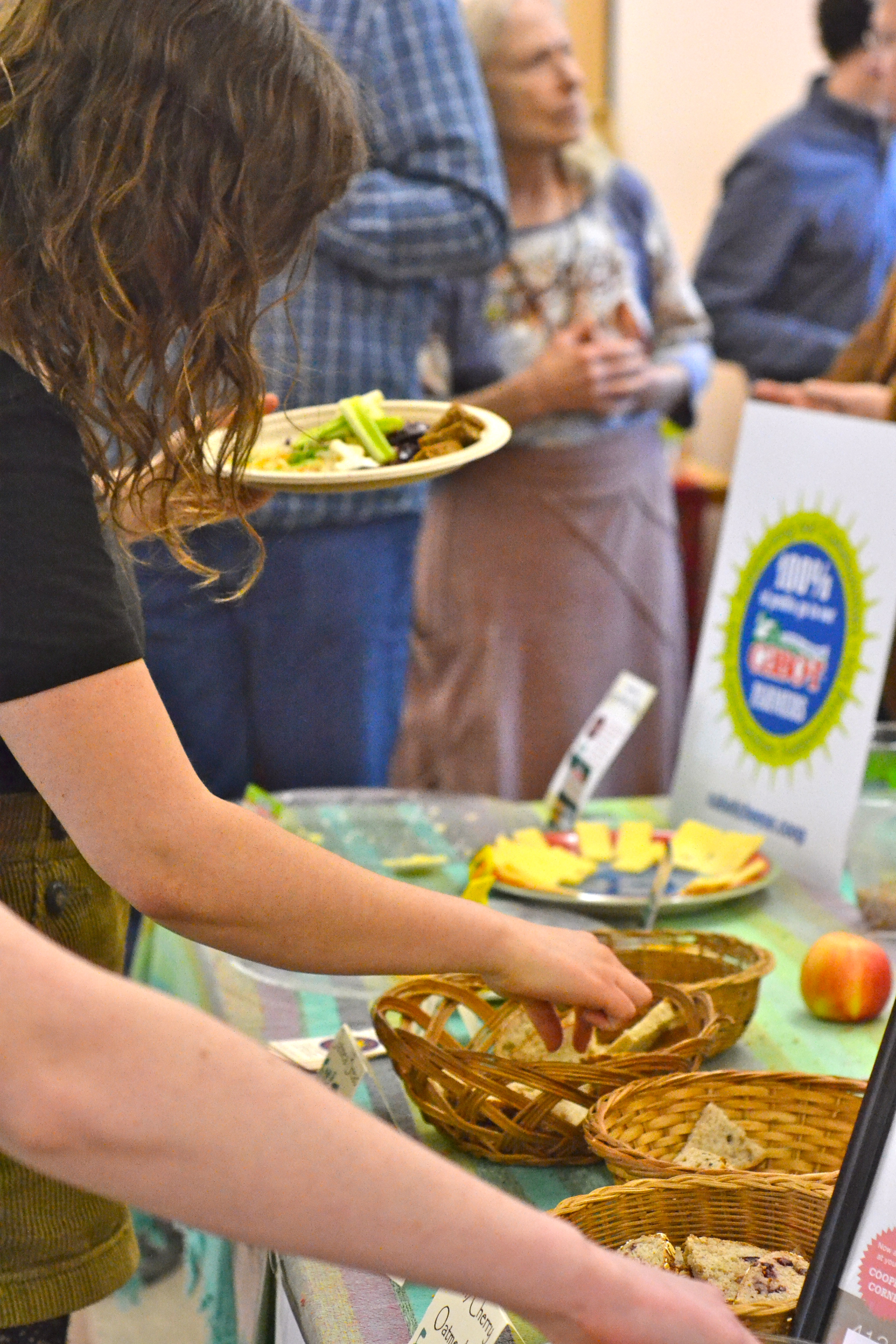 Food table. [photo credit: Rebekah Hanlon]