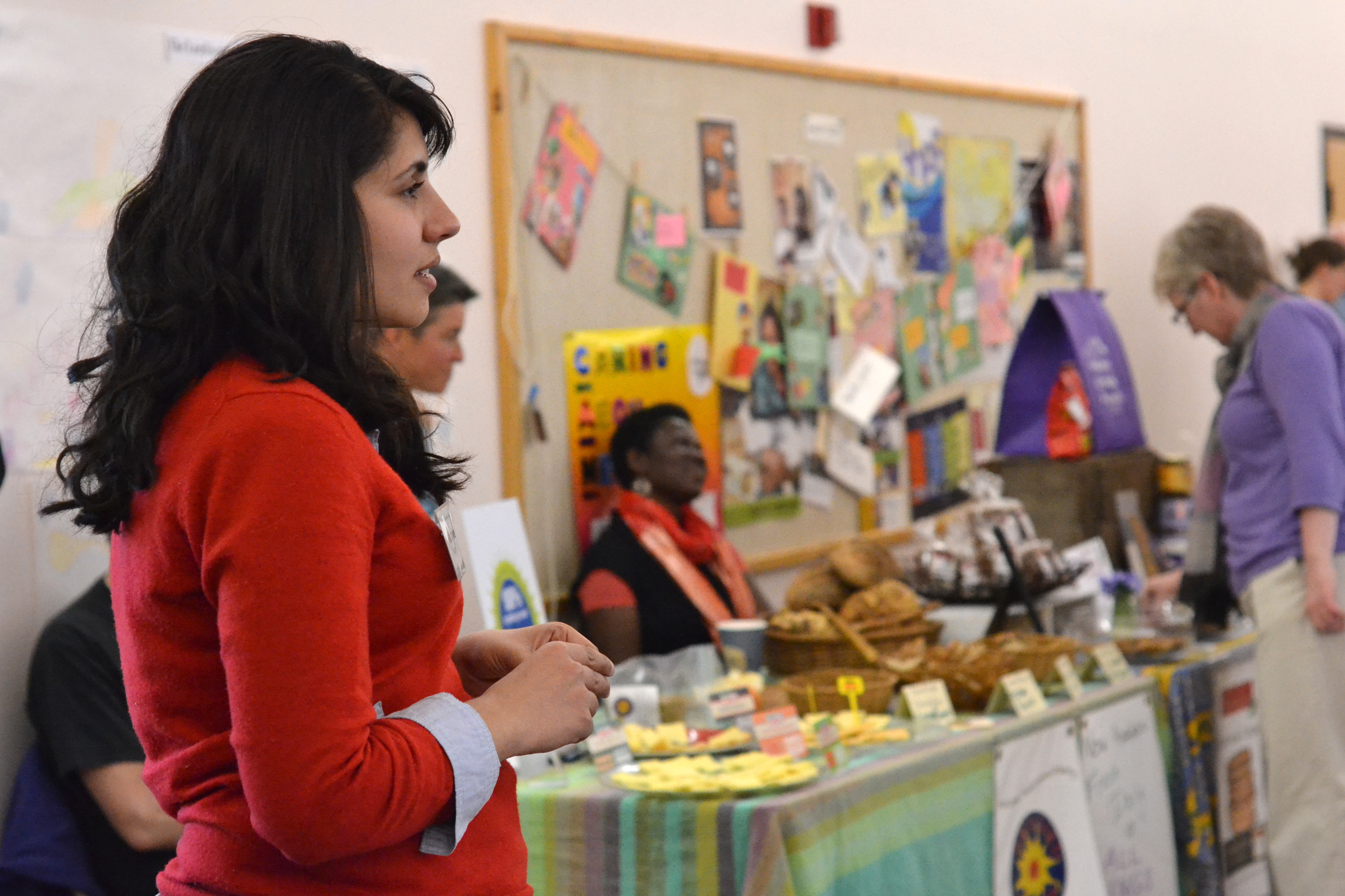 Katherine Bhaduri looks on. [photo credit: Rebekah Hanlon]