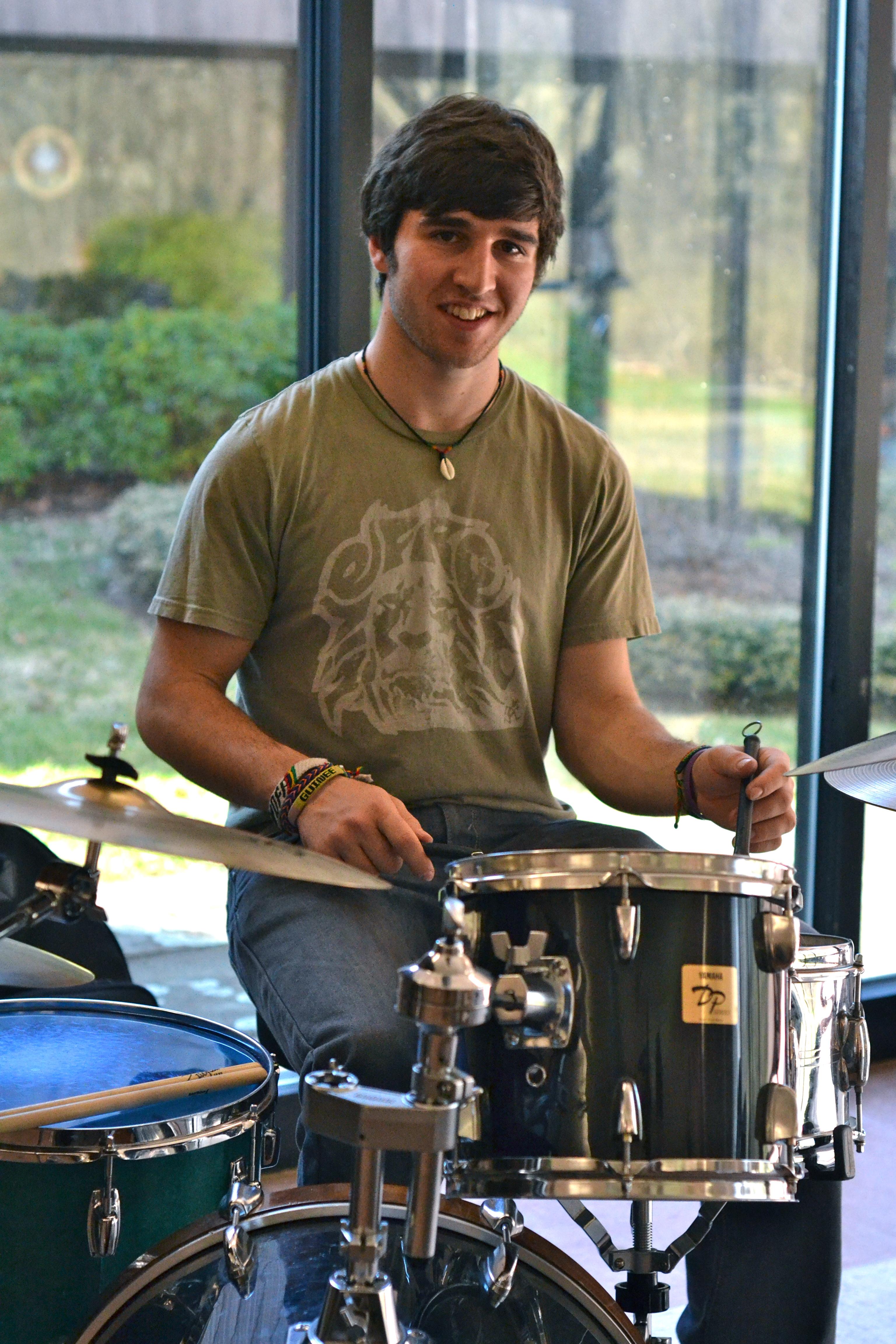 Drummer of Eli Heath Jazz Trio. [photo credit: Rebekah Hanlon]