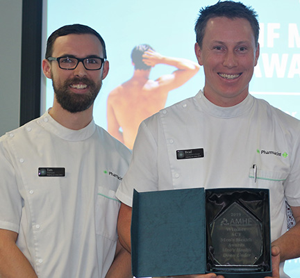 ACT Men's Health Award winner