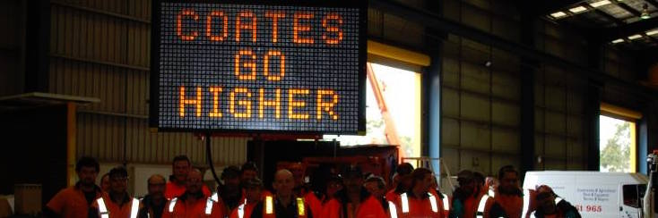 Send a message of Support to Coates Hire Workers!