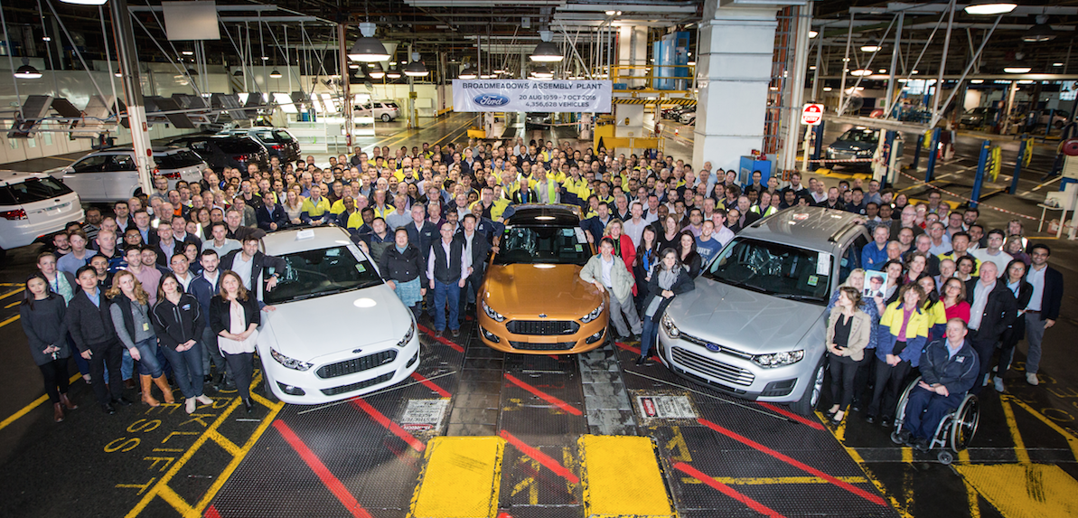 Ford production ends - but not AMWU support