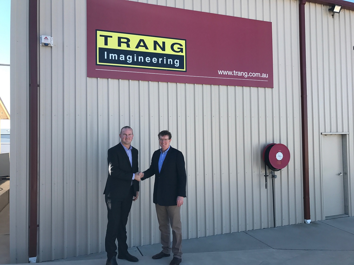 $218,000 DEFENCE INNOVATION CONTRACT WITH CALARE-BASED TRANG IMAGINEERING
