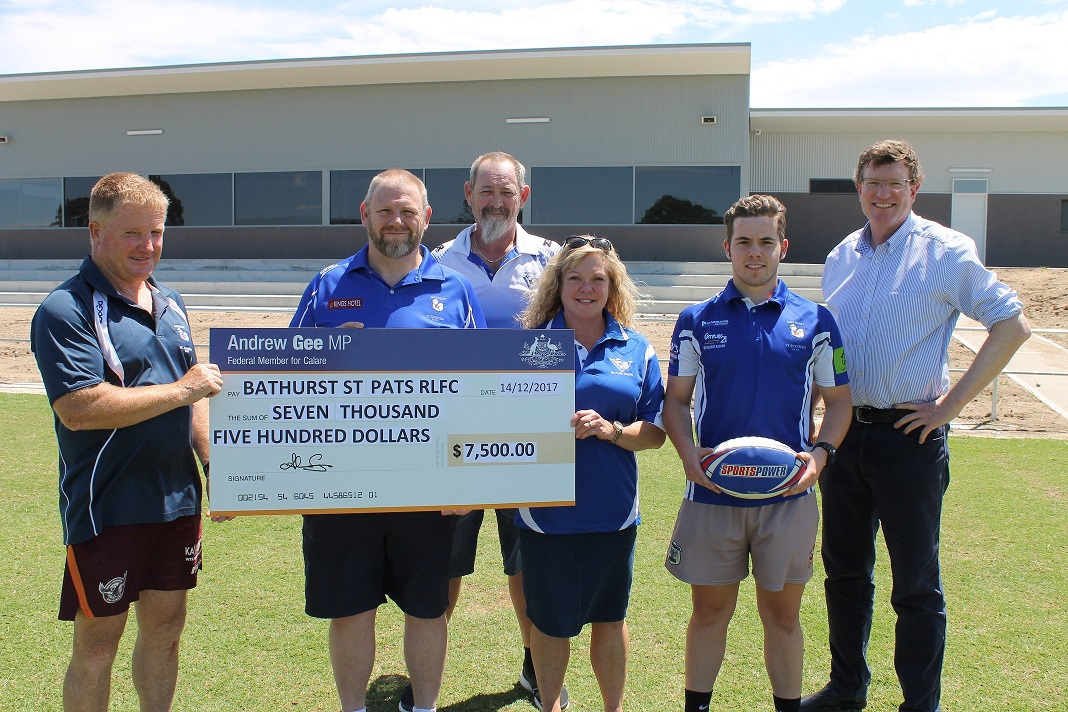 $7,500 FOR BATHURST ST PATRICKS RLFC