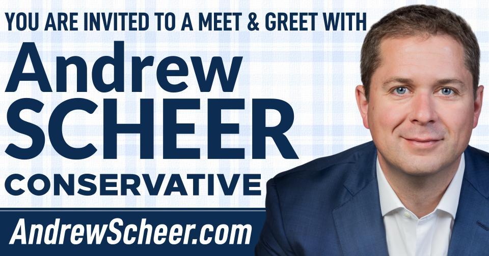 Meet & Greet with Andrew Scheer