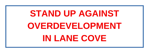 Stand up against overdevelopment