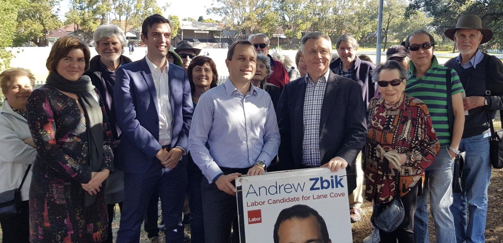 Labor Candidate for Lane Cove - Andrew Zbik and Mick Veitch MLC - NSW Shadow Minister for Lands