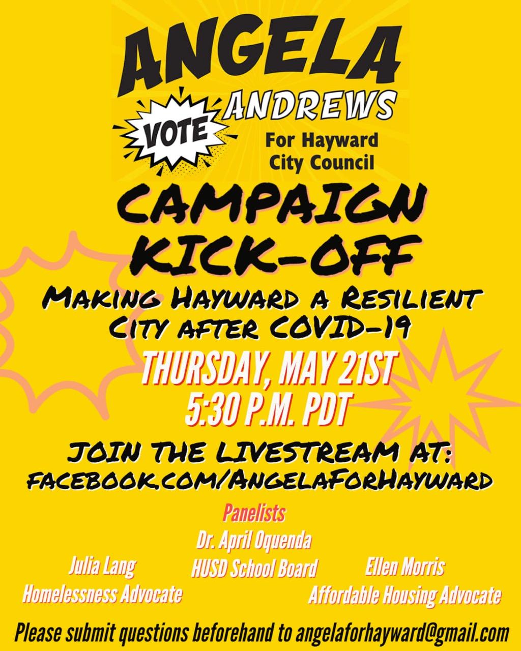 Angela Andrews' Campaign Kickoff