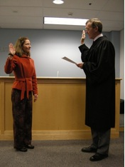 Angie Homola swearing in