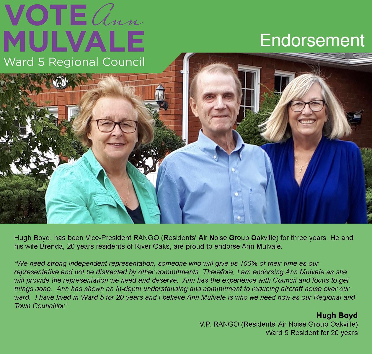 Endorsement Hugh Boyd